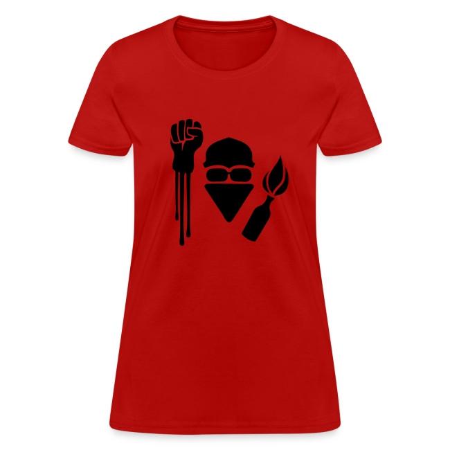 Anarchist Salute Women's Tee Shirt