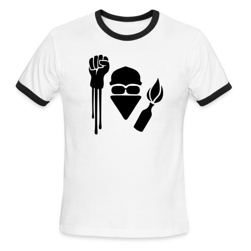 Anarchist Salute Ringer Tee - Men's Ringer T-Shirt