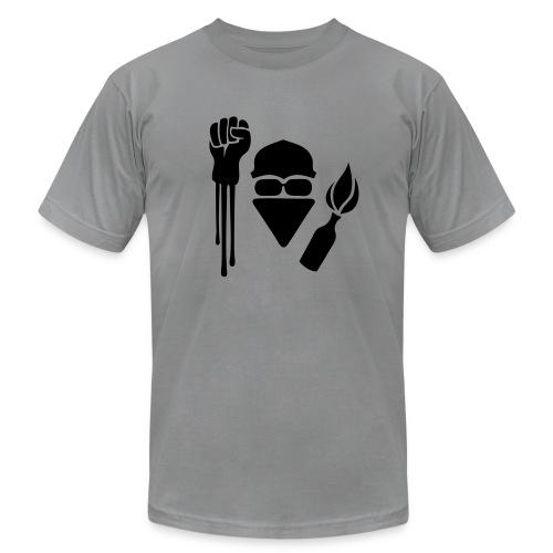 Anarchist Salute Jersey Tee Shirt - Men's Fine Jersey T-Shirt
