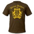 Brown Cool Vintage Designer Shiled Crest T-Shirts