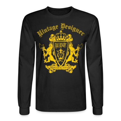 Vintage Designer Crest Graphic - Men's Long Sleeve T-Shirt