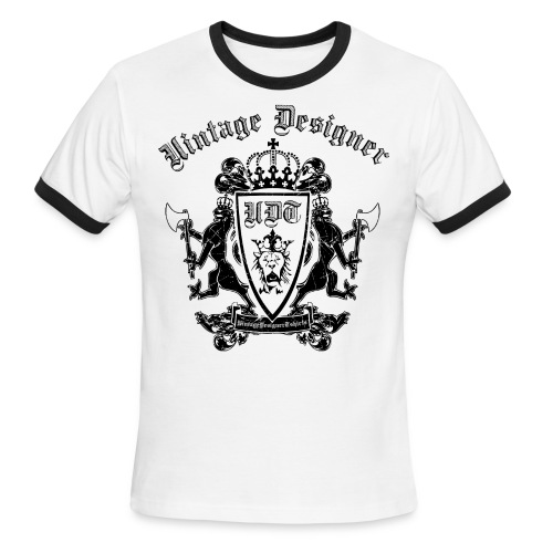 Vintage Designer Crest Graphic - Men's Ringer T-Shirt