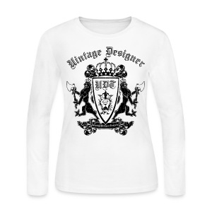 Vintage Designer Crest Graphic - Women's Long Sleeve Jersey T-Shirt