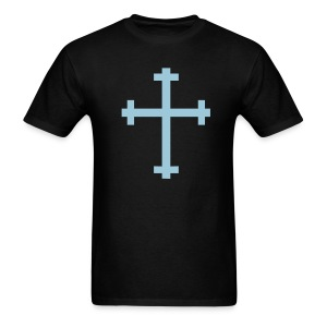 Cotton Candy Crucifix blue - Men's T-Shirt