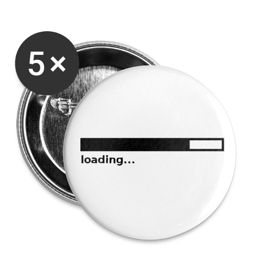 Loading Bar - 5 Large Buttons - Buttons large 2.2'' (5-pack)