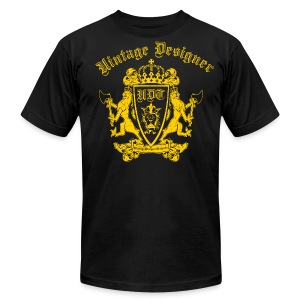 Vintage Designer Crest Graphic - Men's Fine Jersey T-Shirt