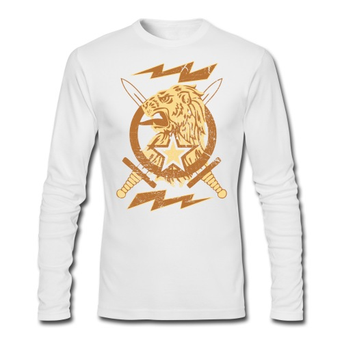 New Lion Crest Designer T-shirts - Men's Long Sleeve T-Shirt by Next Level