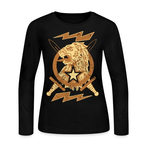 New Lion Crest Designer T-shirts - Women's Long Sleeve Jersey T-Shirt