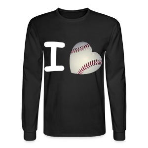 I Love Baseball - Men's Long Sleeve T-Shirt