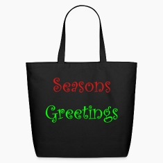 Black seasons_greetings Bags