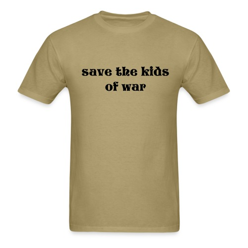save the kids of war tee - Men's T-Shirt