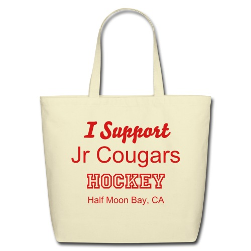 Eco-Friendly I Support JR Cougars Cotton Tote - Eco-Friendly Cotton Tote