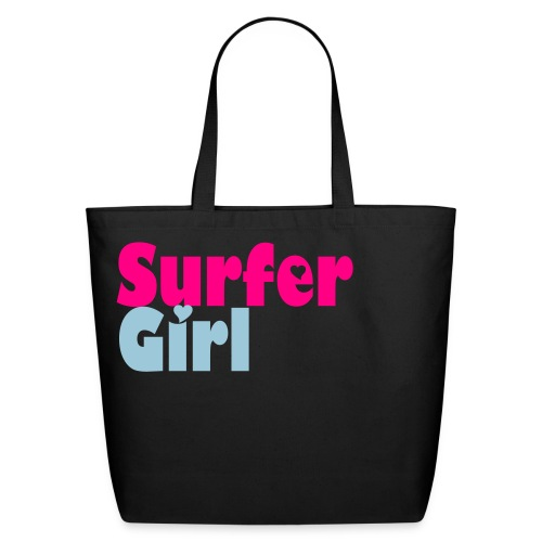 Surfer Girl Bag - Black - Eco-Friendly Cotton Tote