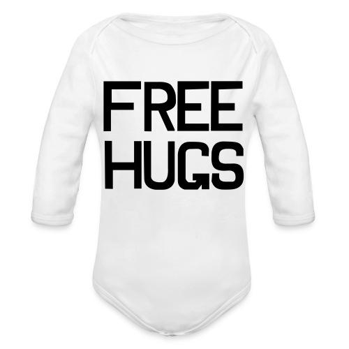 Men's white shirt with splash! - Organic Long Sleeve Baby Bodysuit