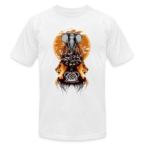Elephant,Lions and Birds Flying Designer Tee - Men's  Jersey T-Shirt