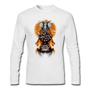 Elephant,Lions and Birds Flying Designer Tee - Men's Long Sleeve T-Shirt by Next Level
