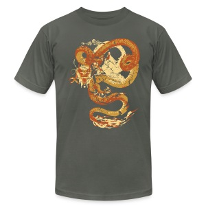 Vintage Faded Chinese Dragon Designer T-shirt - Men's T-Shirt by American Apparel