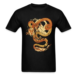Vintage Faded Chinese Dragon Designer T-shirt - Men's T-Shirt
