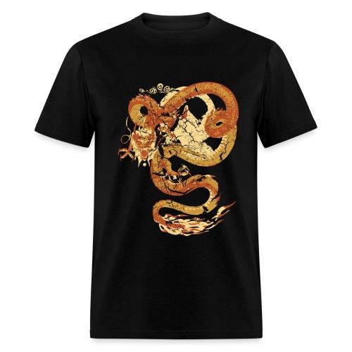 Vintage Faded Chinese Dragon Designer T-shirt - Men's T-Shirt
