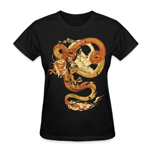 Vintage Faded Chinese Dragon Designer T-shirt - Women's T-Shirt