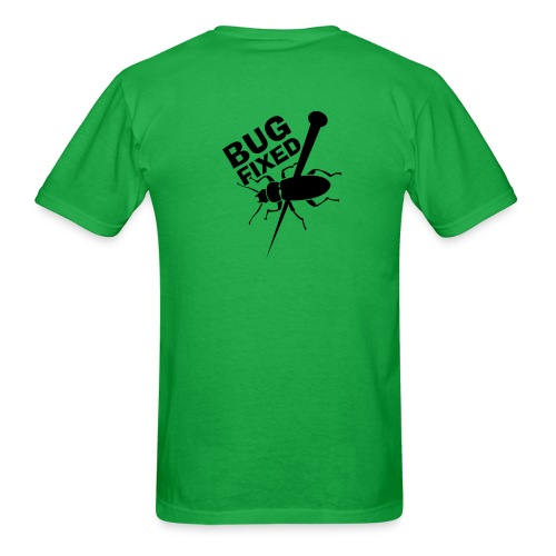 Bug Fixed - Back (on Light Choice) - Men's T-Shirt