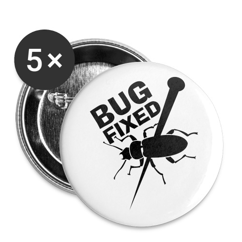 Bug Fixed - 5 Large Buttons - Buttons large 2.2'' (5-pack)