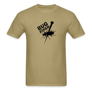 Bug Fixed - Front (on Light Choice) - Men's T-Shirt