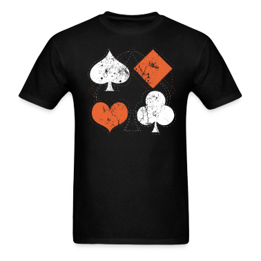 Black vintage poker playing cards T-Shirts