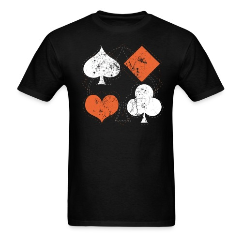 Hearts,Spades,Clubs,and Diamonds Vintage Playing Cards - Men's T-Shirt