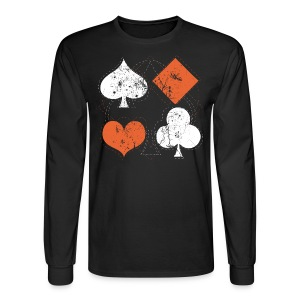 Hearts,Spades,Clubs,and Diamonds Vintage Playing Cards - Men's Long Sleeve T-Shirt