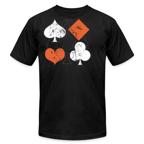 Hearts,Spades,Clubs,and Diamonds Vintage Playing Cards - Men's Fine Jersey T-Shirt