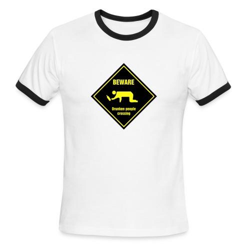 Drunk Crossing - Men's Ringer T-Shirt