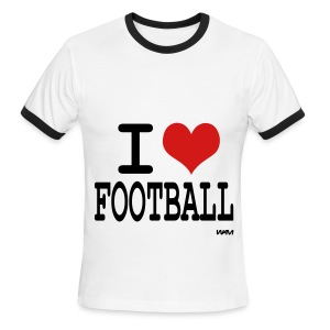 I LOVE FOOTBALL - Men's Ringer T-Shirt