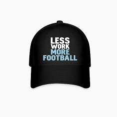 Black less work more football Caps
