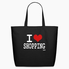 Black i love shopping by wam Bags