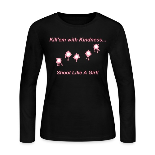 Shoot Like A Girl! - Women's Long Sleeve Jersey T-Shirt
