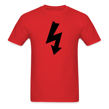Red Electricity Symbol T-Shirts