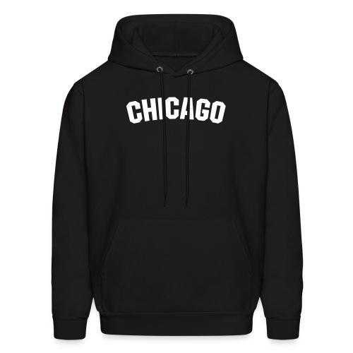 Black Chicago Hoodie - Men's Hoodie