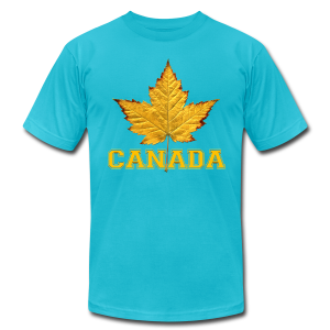 Canada T-shirt Men's Maple Leaf Souvenir T-shirts - Men's T-Shirt by American Apparel