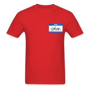 Hello My Name is Satan - Men's T-Shirt