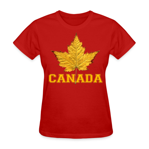 Women's Canada T-Shirt Maple Leaf Souvenir Shirt - Women's T-Shirt