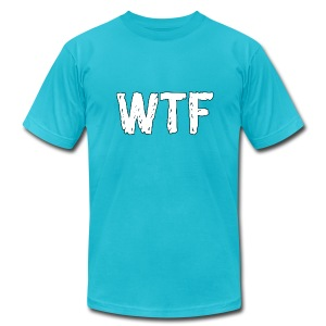 WTF Logo - Men's T-Shirt by American Apparel