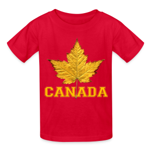 Kid's Canada T-shirt Canada Maple Leaf Kid's Shirt - Kids' T-Shirt