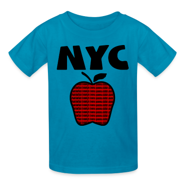 Orange NYC With Big Apple And 5 Boroughs--DIGITAL DIRECT PRINT ONLY Kids' Shirts