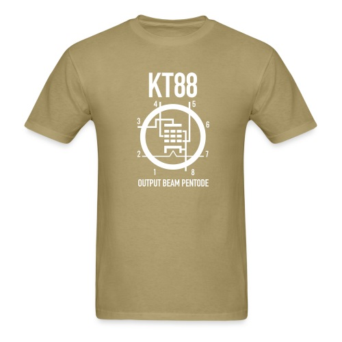 KT88 White Schematic T-Shirt - Men's T-Shirt