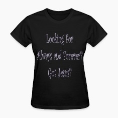 Black always_and_forever Women's T-Shirts