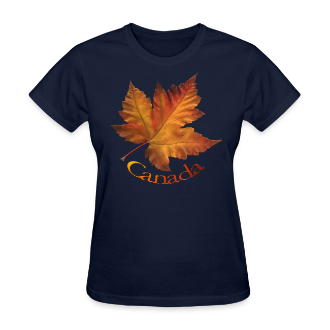 Women's Canada T-shirt Beautiful Maple Leaf Souvenir T-shirts