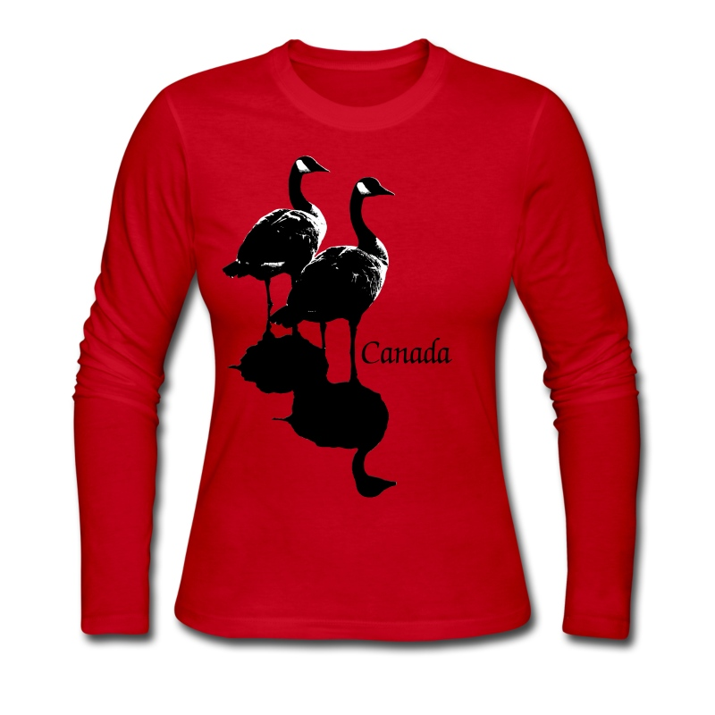 Canada goose souvenir cool canada art gifts long sleeve for Canada goose t shirt