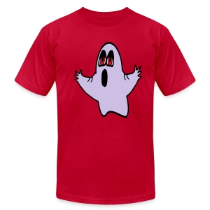 WUBT 'Eli, The Expressive Ghost' Men's AA Tee, Orange - Men's T-Shirt by American Apparel