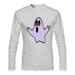WUBT 'Eli, The Expressive Ghost' Men's AA LS Tee, Green - Men's Long Sleeve T-Shirt by Next Level